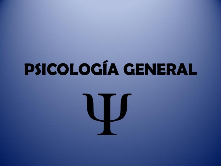 PSICOLOGIA GENERAL I - PS